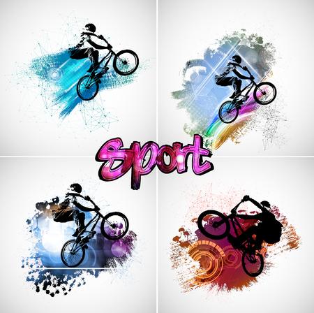 Sportillustration des Fahrradfahrers