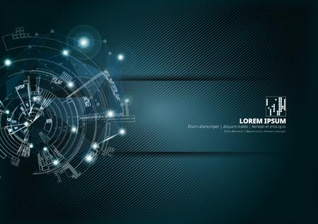 Fond de concept de technologie abstraite prêt pour la présentation, illustration vectorielle