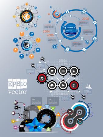 Elementi vettoriali infografici per l'illustrazione aziendale