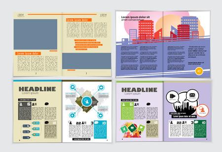 Plantillas de diseño de folletos gráficos, ilustración vectorial Ilustración de vector