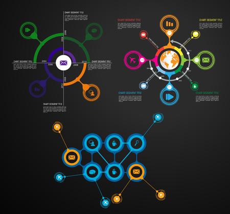 Éléments vectoriels infographiques pour l'illustration de l'entreprise