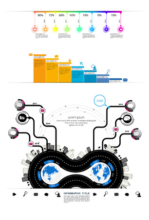 Infographic vector elements for business illustration