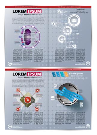 Graphics brochures design templates, vector illustration. Ilustração