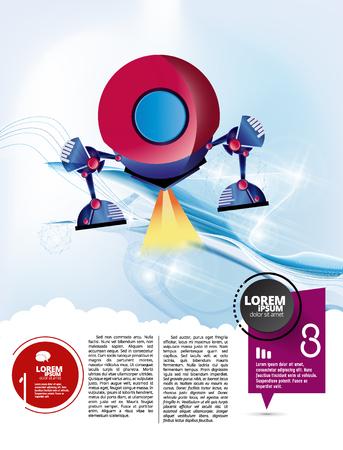 Rocket launch, vector illustration concept