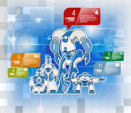 Robot, vector illustration