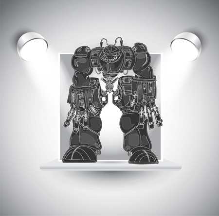 Robot, vector illustration