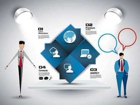 Businessman working character design, vector illustration
