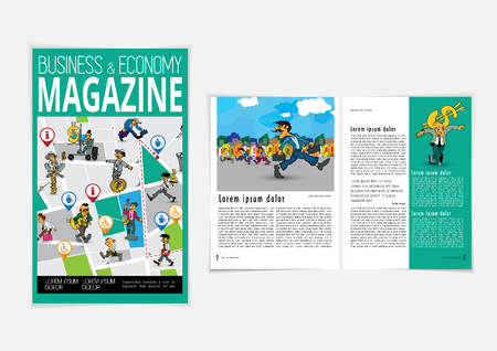 Printing magazine, brochure layout easy to editable