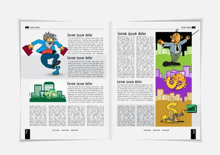 Folleto corporativo o plantillas de presentación. Fácil de usar en flyer, ilustración vectorial. Ilustración de vector