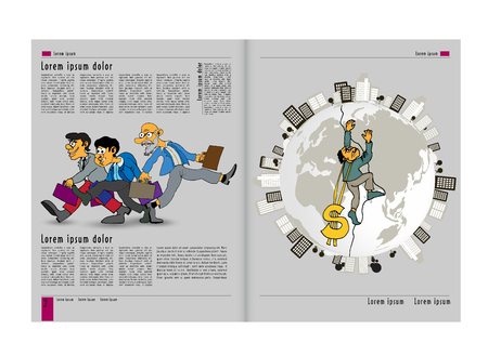 Template vector design. Ready for use for brochure, annual report or magazine
