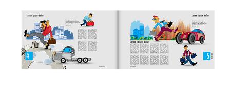 Printing magazine, brochure layout easy to editable