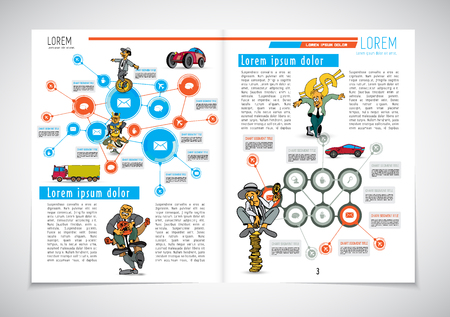 Corporate booklet or presentation templates. Easy for use in flyer, vector illustration Illustration