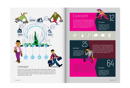 Corporate booklet or presentation templates. Easy for use in flyer, vector illustration Ilustración de vector