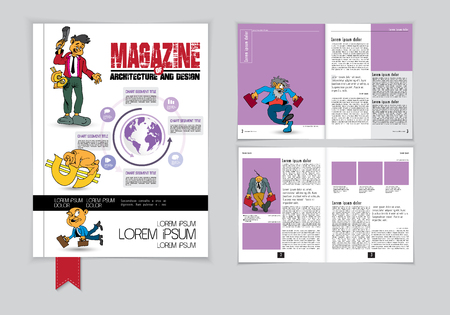 Graphics brochures design templates, vector illustration