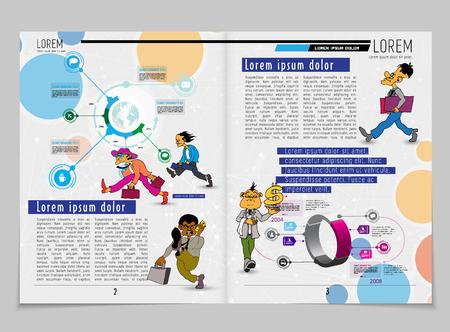 Conception de vecteur de modèle. Prêt à l'emploi pour brochure, rapport annuel ou magazine