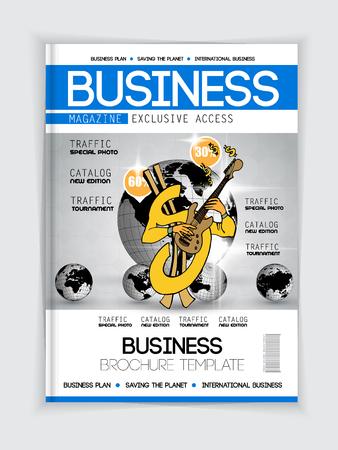 Impresión de revista, diseño de folletos fácil de editar Ilustración de vector