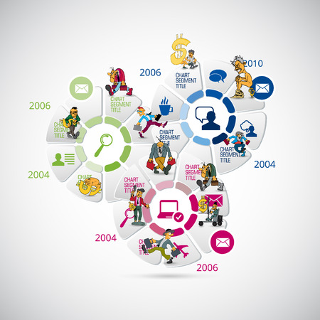 Business infographic elements data visualization vector design Reklamní fotografie - 124600833