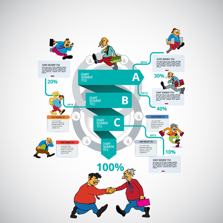 Business infographic elements data visualization vector design Reklamní fotografie - 124600836