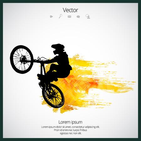 Sportillustration des BMX-Fahrers