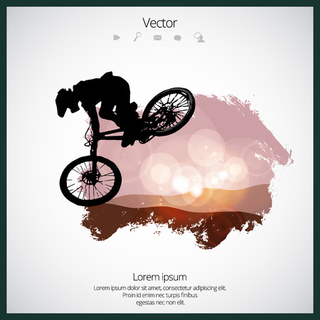 Sport illustration of bmx rider