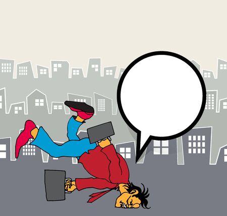 Businessman cartoon character, vector illustration 스톡 콘텐츠 - 124989201