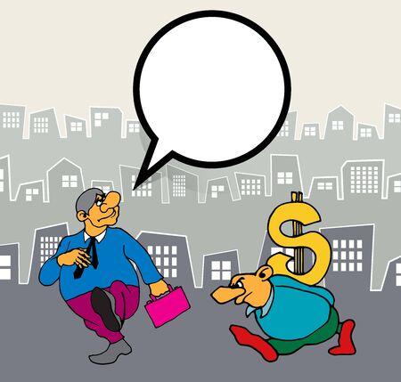 Businessman cartoon character, vector illustration 스톡 콘텐츠 - 124989199