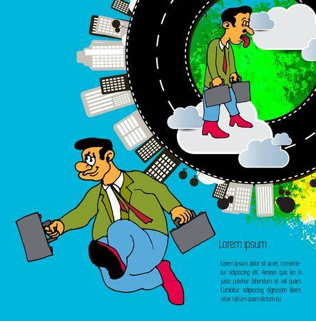 Businessman cartoon character, vector illustration 스톡 콘텐츠 - 124989133