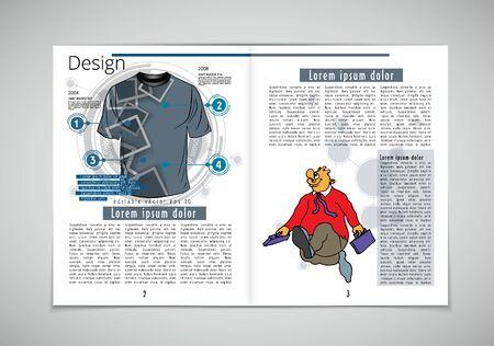 Graphics brochures design templates, vector