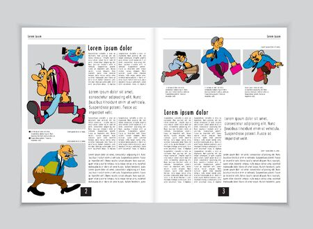 Template vector design. Ready for use for brochure, annual report or magazine Stock fotó - 125651322