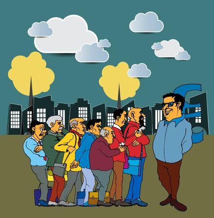 Businessman cartoon character, vector illustration