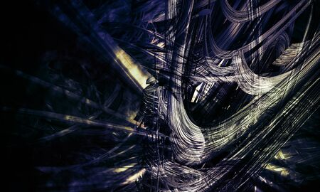 3D rendering of abstract digital technology background Stock Photo