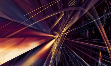 3D rendering of abstract digital technology background Stock fotó