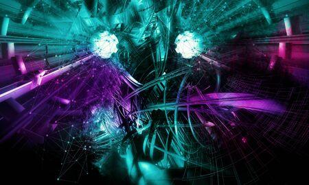 Abstract technology digital hi tech Reklamní fotografie - 128584352