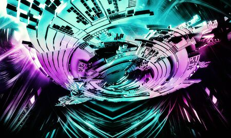 Abstract technology digital hi tech Reklamní fotografie - 128584354