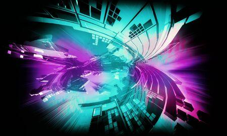 Abstract technology digital hi tech Reklamní fotografie - 128584356