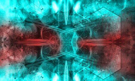 Abstract technology digital hi tech Reklamní fotografie - 128584274