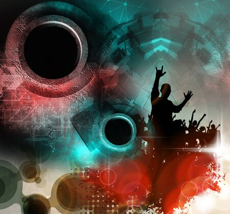 Nightlife and disco concept. Illustration ready for banner or poster
