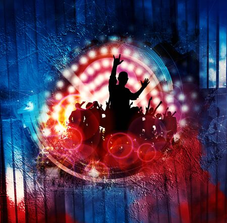 Nightlife and disco concept. Illustration ready for banner or poster Reklamní fotografie - 128584187