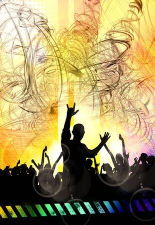 Nightlife and disco concept. Illustration ready for banner or poster Reklamní fotografie - 128584190