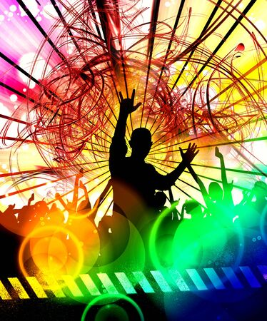 Nightlife and disco concept. Illustration ready for banner or poster Reklamní fotografie - 128584191