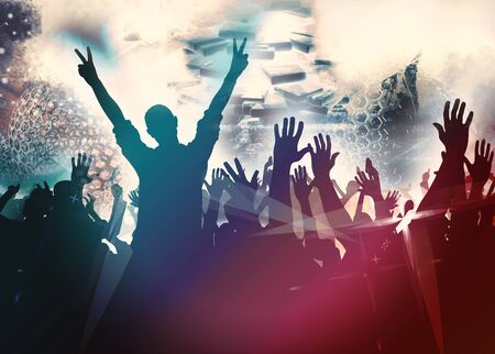 Party background with dancing people Stock Photo