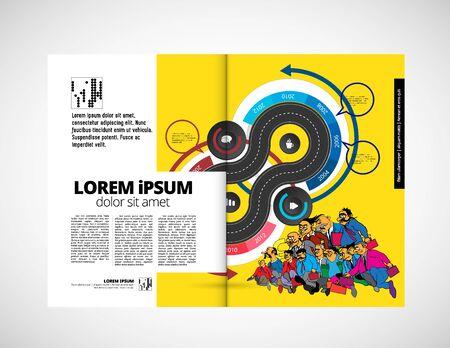 Printing magazine, brochure layout easy to editable Stock fotó - 128439395