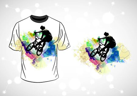 T-shirt template with active person