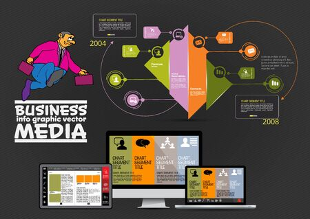 Modern infographic design with diagram and IT technology