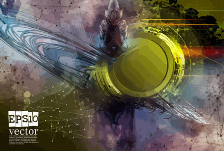 Abstract technology concept background, vector illustration Stockfoto - 151087632