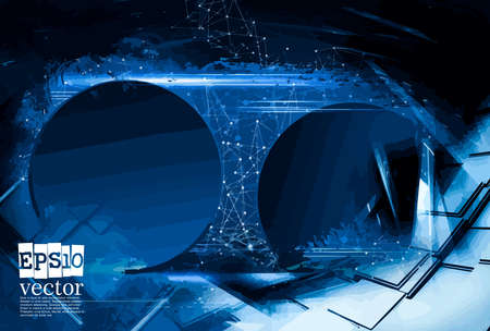 Abstract technology concept background, vector illustration Stockfoto - 151087636