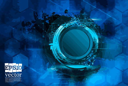 Abstract technology concept background, vector illustration Stockfoto - 151087641