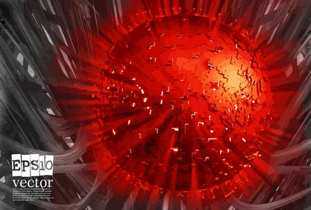 Abstract technology concept background, vector illustration Stockfoto - 151087740