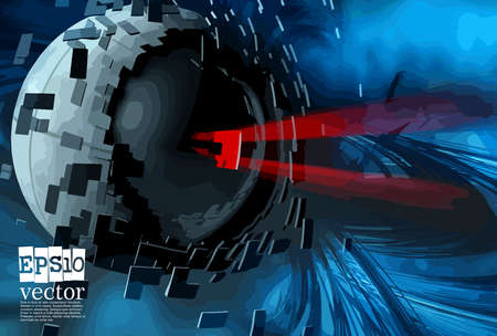 Abstract technology concept background, vector illustration Stockfoto - 151087745