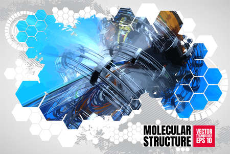 Abstract technology concept background ready for presentation, vector
